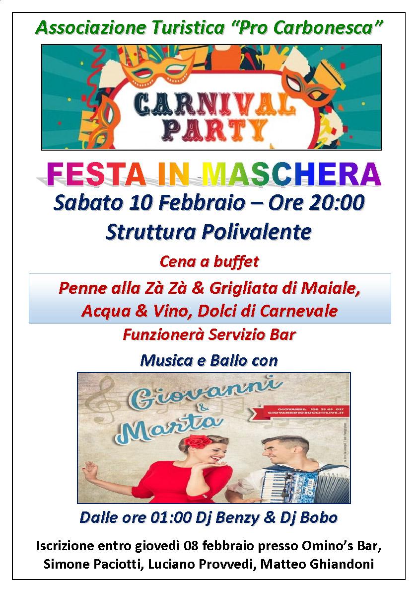 Manif Festa Carnevale 2018